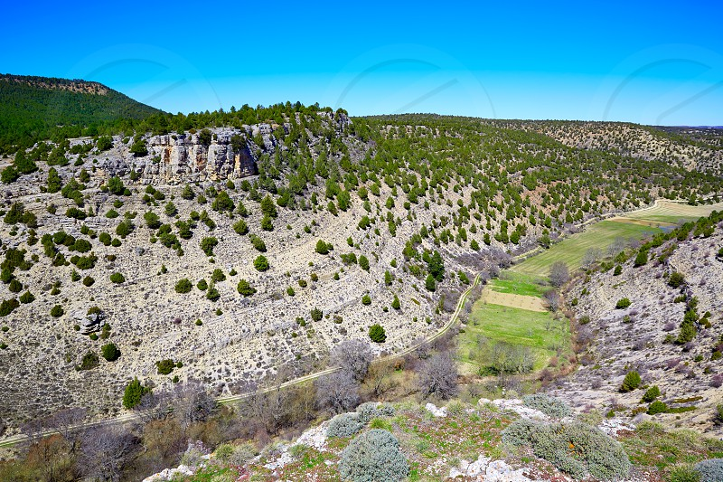 Moscardon La Canada point Sierra Albarracin mountains in Teruel Spain photo