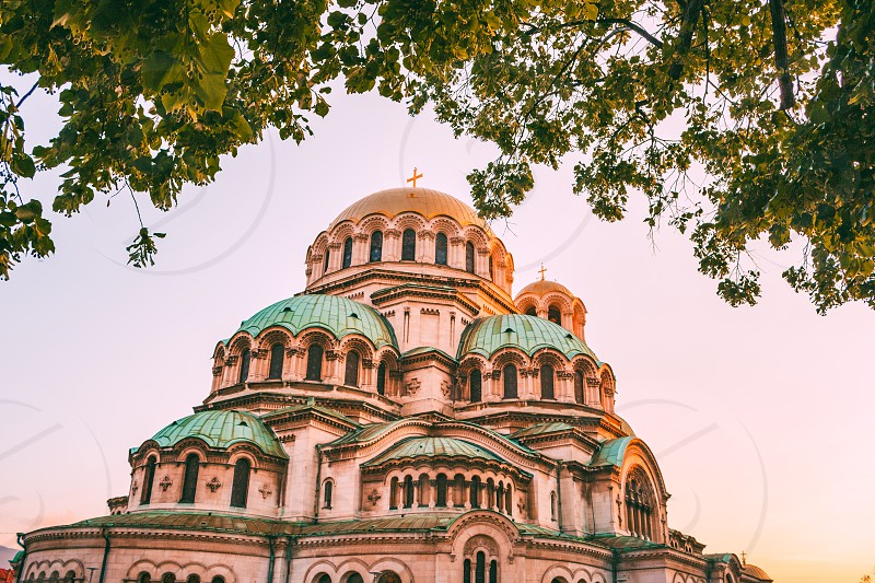 alexander nevsky cathedral iconic church in sofia photo