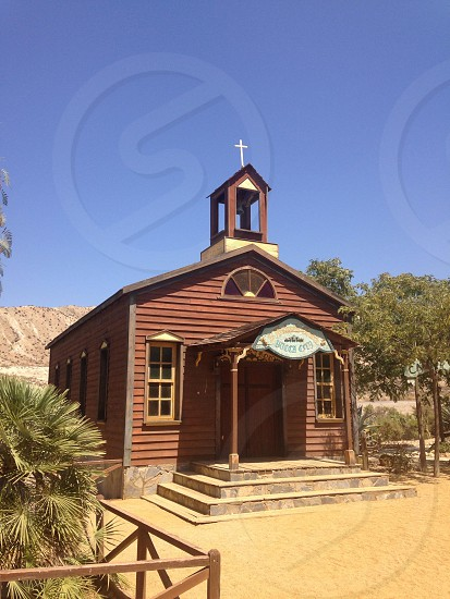 Church from a Wild West film set photo