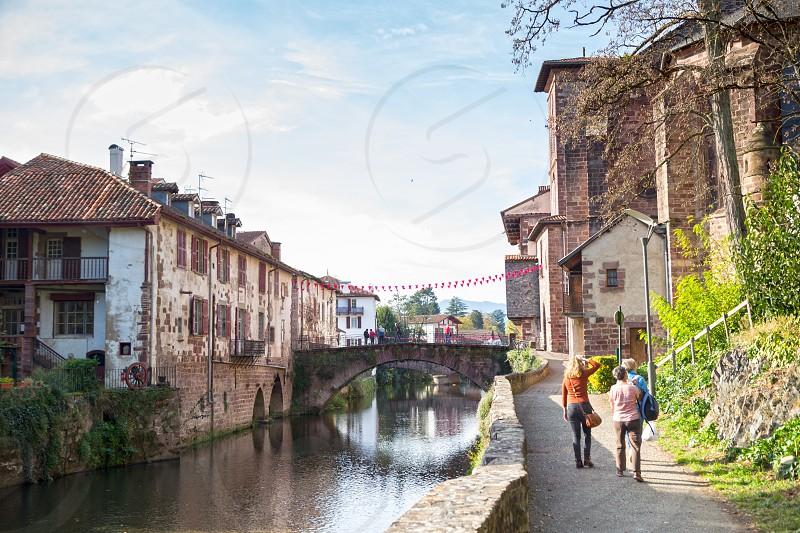 Landscape image of Saint Jean Pied de Port village in south of france photo