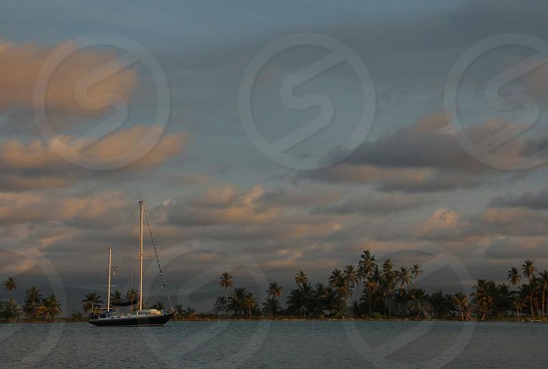 Sailboat in the Caribbean San Blas Islands Panama photo