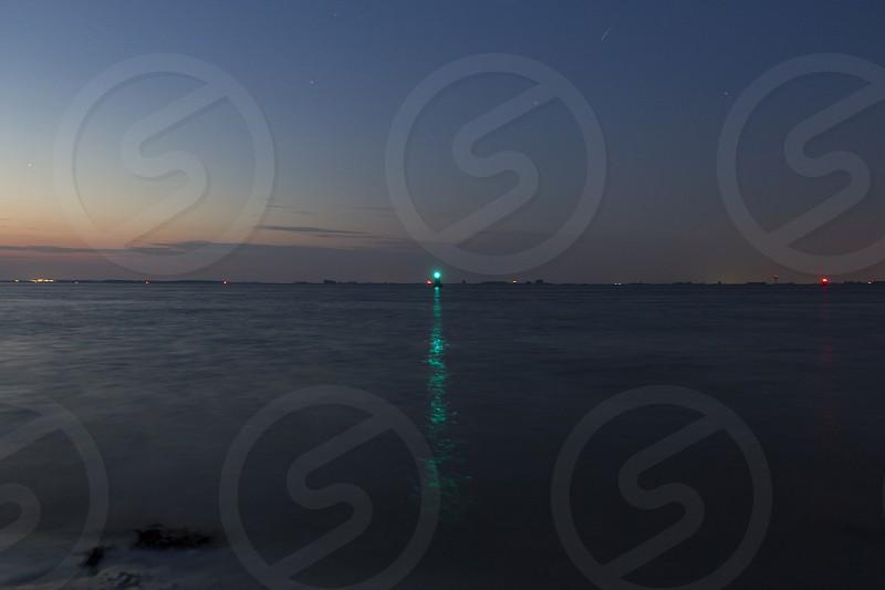 Westerschelde zeeland the netherlands at night photo