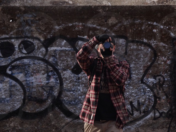man taking picture photography photo