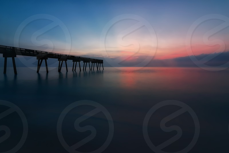 Sunrise over the Atlantic Ocean in Florida USA. Color Image. photo