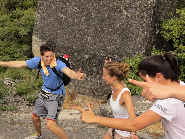 Charades on a rock photo