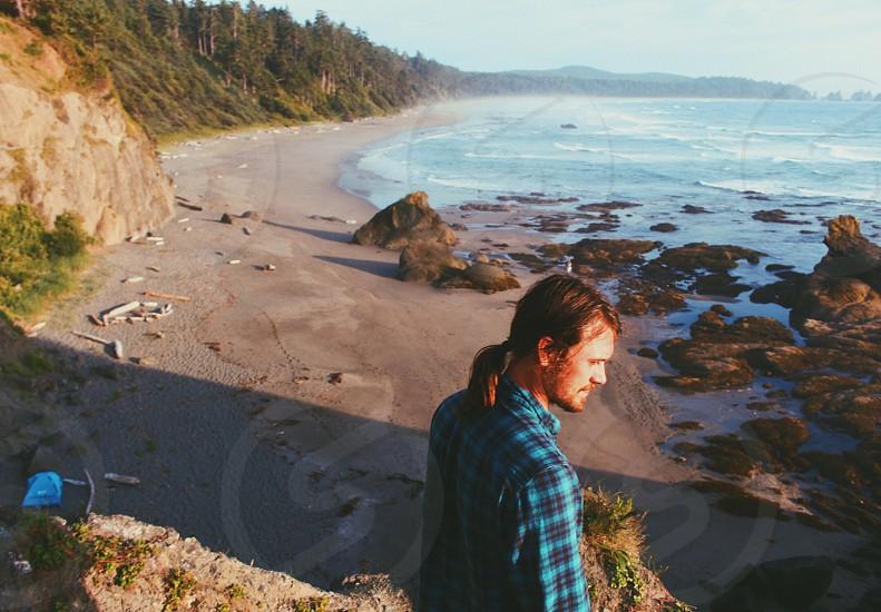 Ocean beach Olympic Coast Washington photo