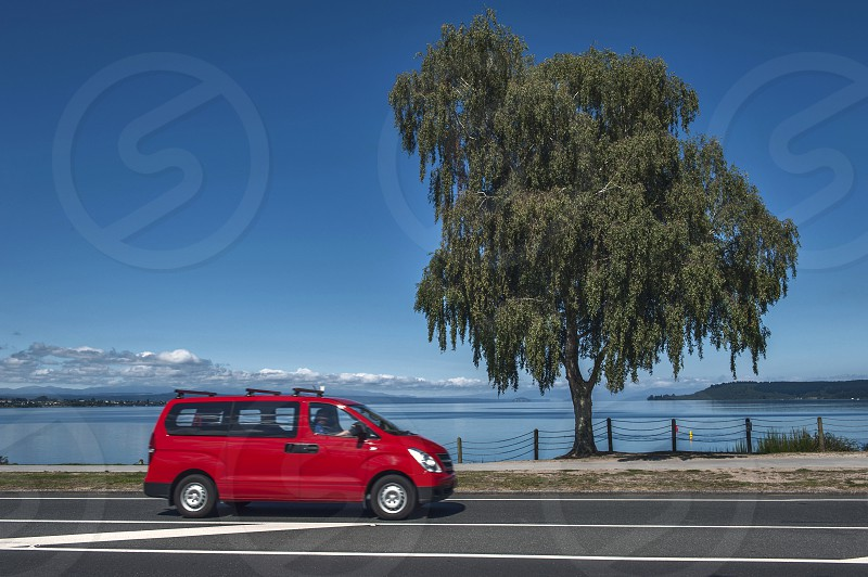 Lake Taupo in North Island of New Zealand photo