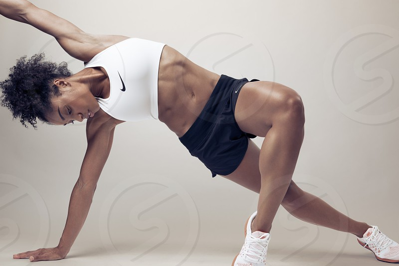 Female fitness model shot in the studio photo