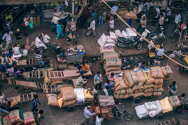 Looking down at Gadodia market. photo