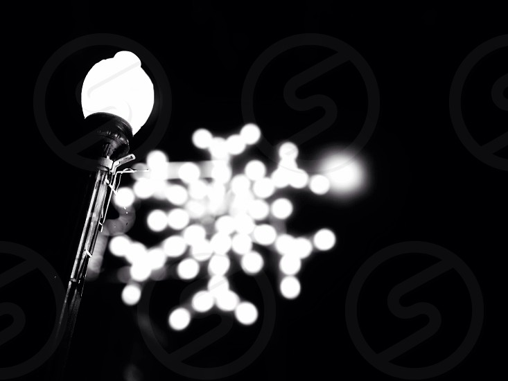 white street light photo