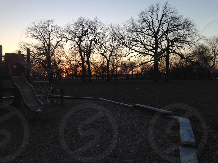 Sunset at the park. photo