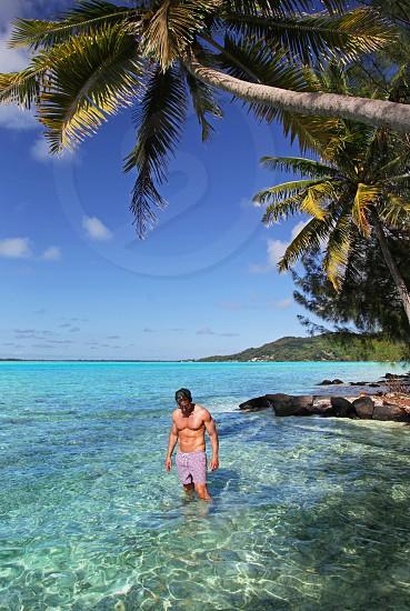 Derek Swims in Bora Bora photo