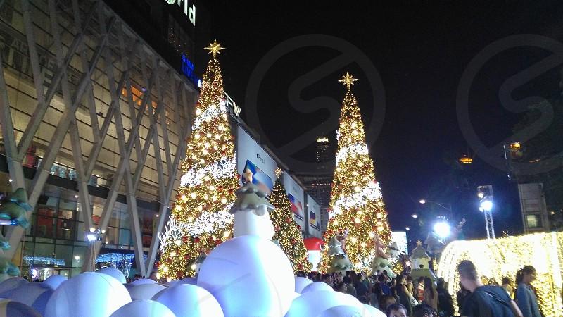 New year festival at center of Bangkok photo