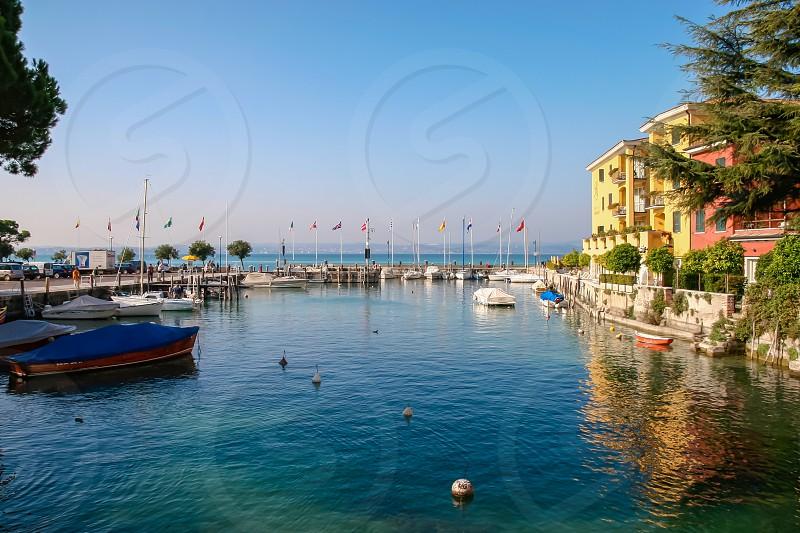 Small Marina at Sirmione Lake Garda photo