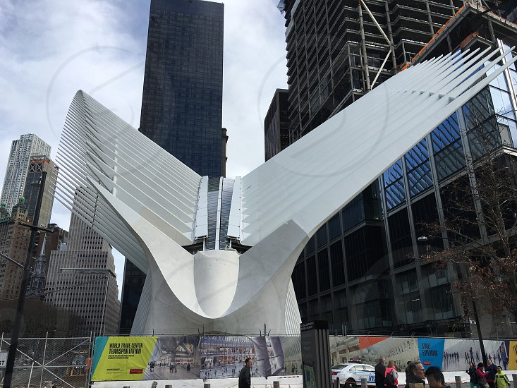 World trade center subway hub architecture New York city photo