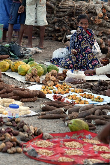 a fegetable market at the village of Lospalos in the east of East Timor in southeastasia.