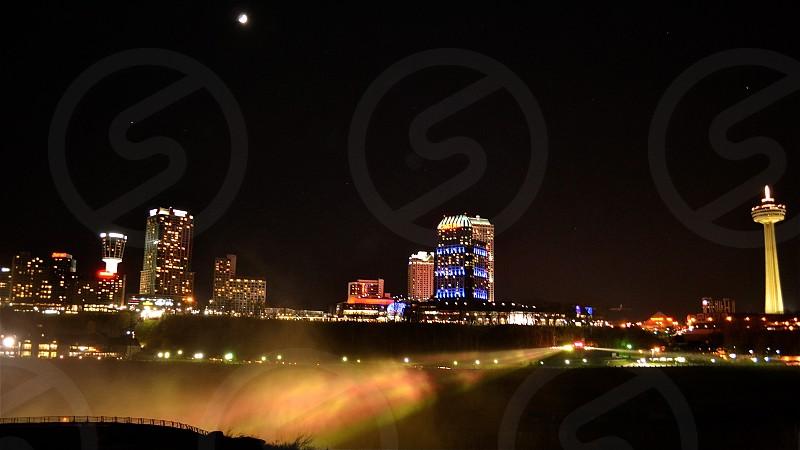 Niagara by night photo