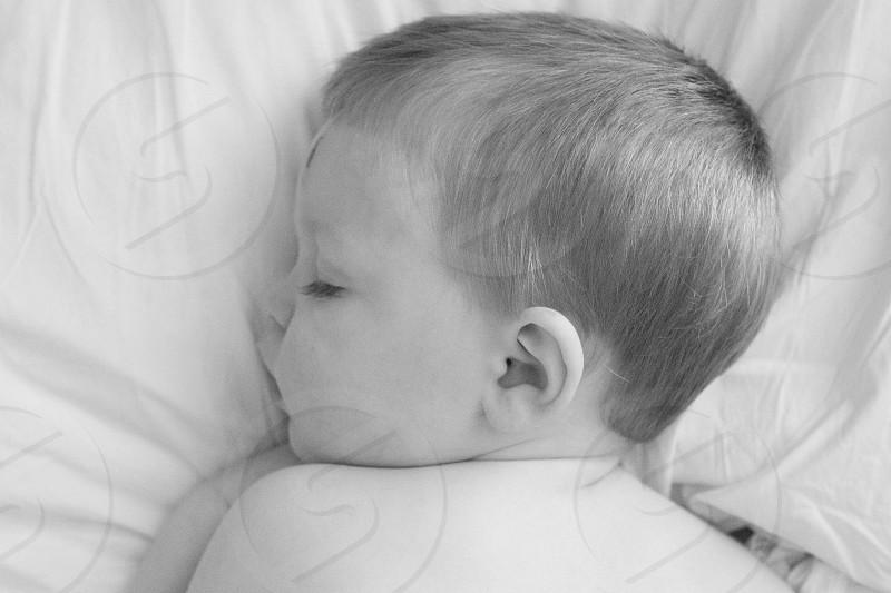 boy sleeping photo