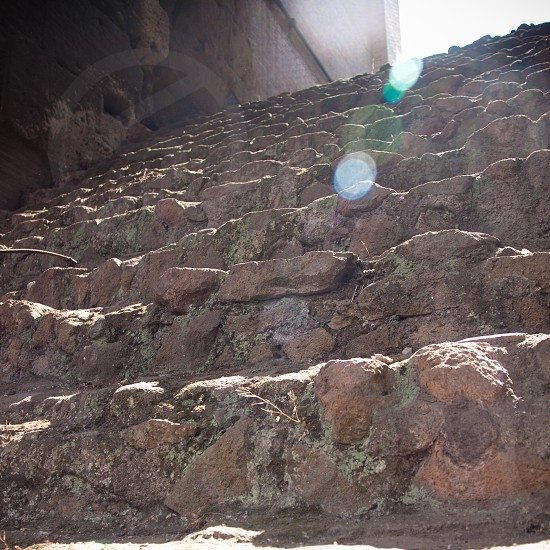 brown staircase photo