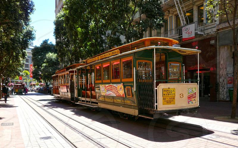 San Francisco Cable car at Union Square photo