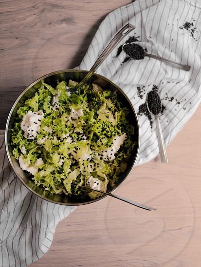 Salad circle food  photo