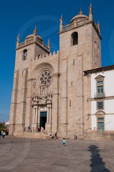 Porto Cathedral exterior view. Porto Portugal. photo