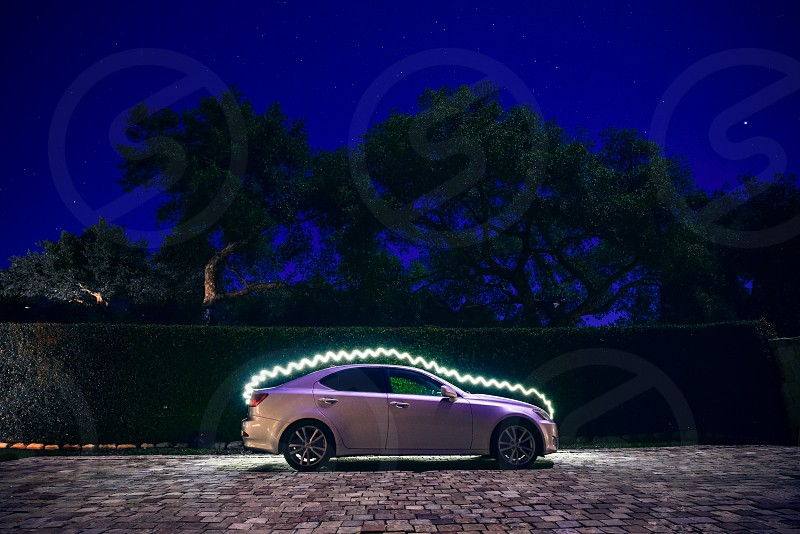 car electric electricity night light painting photo