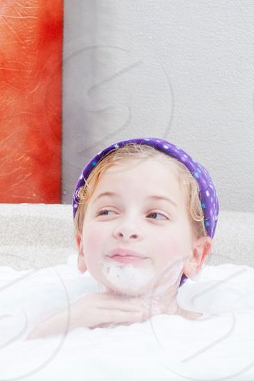 boy inside bath tub photo