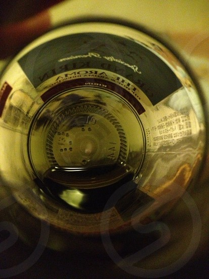 A world through a beer bottle. photo