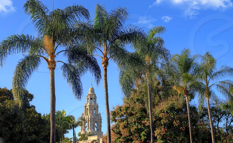 San Diego California USA - February 5 2018 - California Tower overlooking Balboa Park in San Diego California. photo