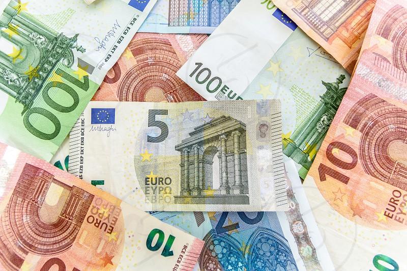 Euro paper money photo