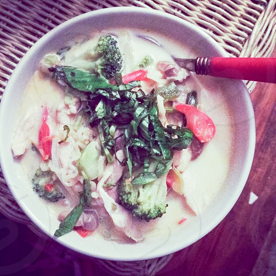 Thai coconut soup photo