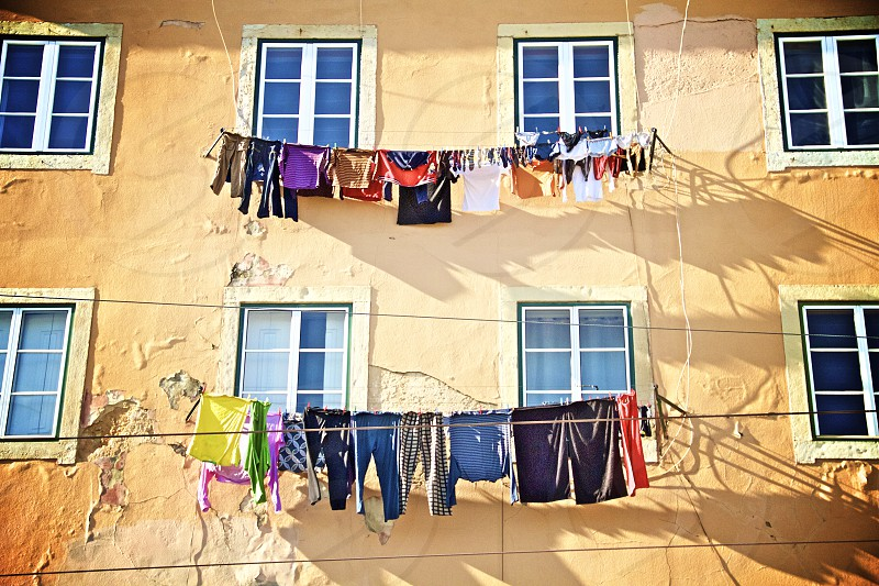 clothes on clothesline photo