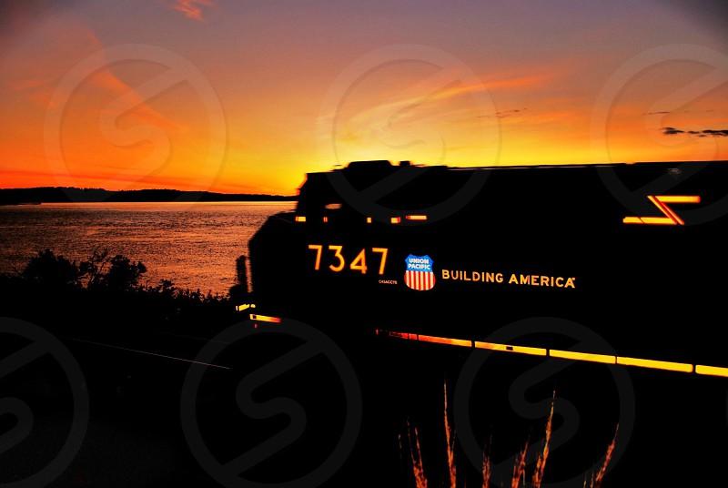 Sunset Train  Steilacoom WA photo