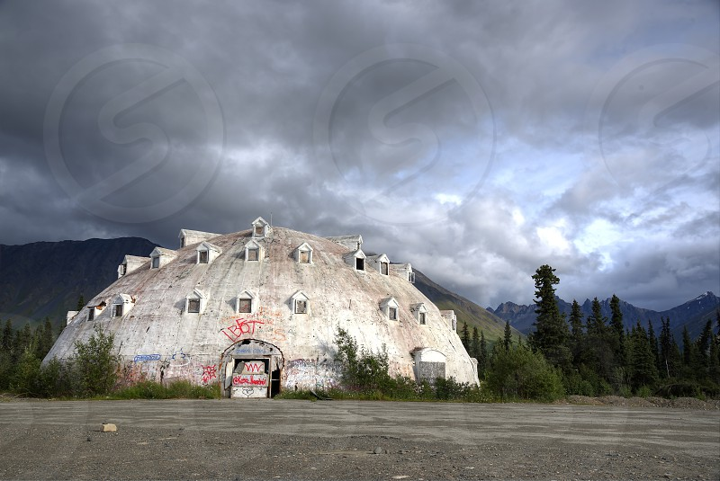 Igloo; Abandoned; Mountains; Landscape; Travel; Road Trip; Denali; Alaska photo