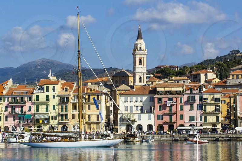 dock of Imperia in Liguria photo