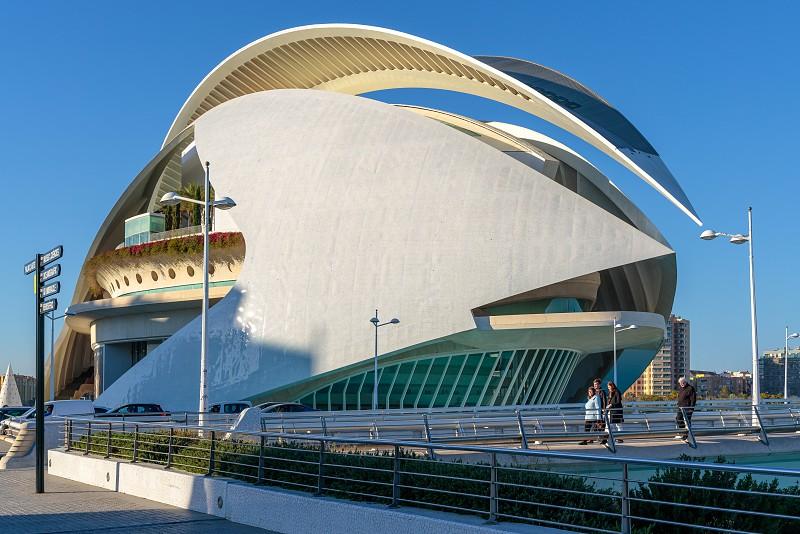 VALENCIA SPAIN - FEBRUARY 25 :  Palau de les Arts Reina Sofia in Valencia Spain on February 25 2019. Unidentified people photo