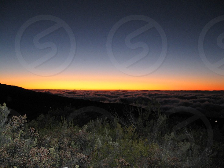 Maui sunset from Haleakala.  photo