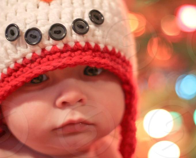 nephews first christmas photo