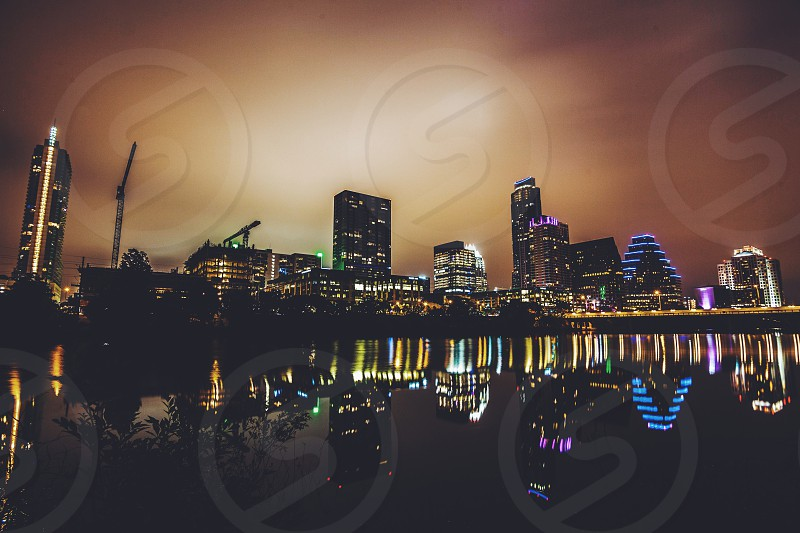Skyline view of Austin Texas. photo