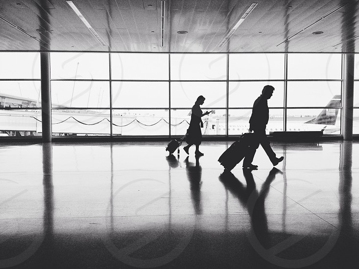 man with luggage silhouette photo