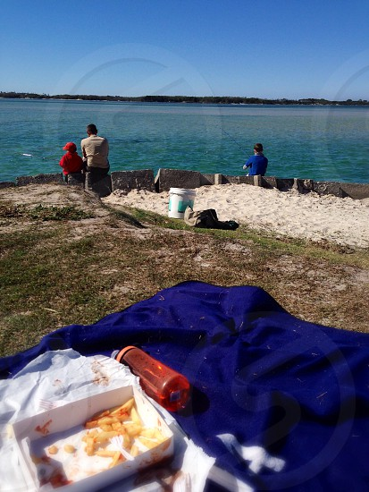 Fish well chips anyway at the Pumicestone Passage Sunshine Coast.   photo