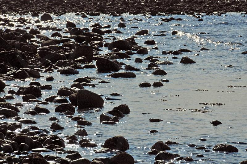 water and rocks beach photo