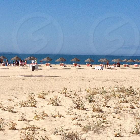 Sandy beach relaxing photo