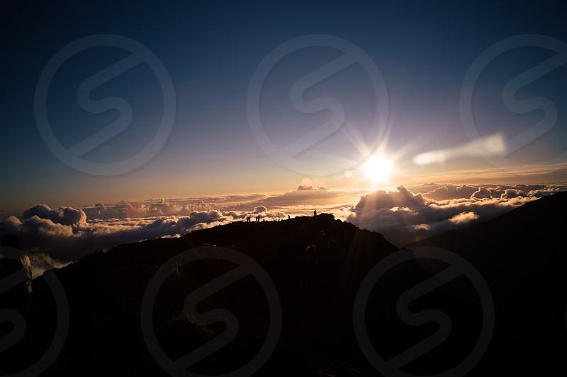silhouette photo of sky photo