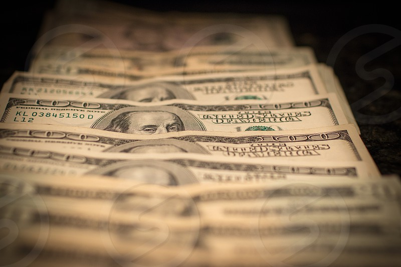 100 us dollar bills photo