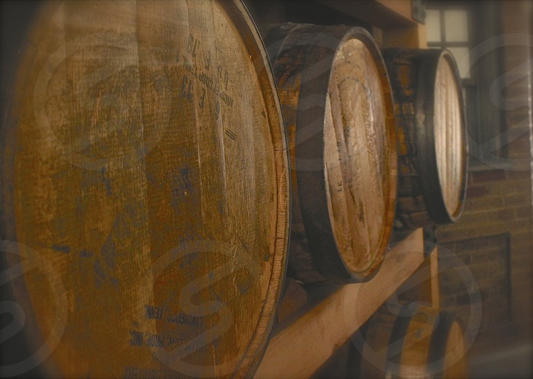 Whiskey barrels photo