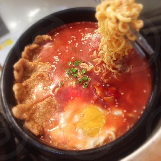 Noodle ramen soup photo