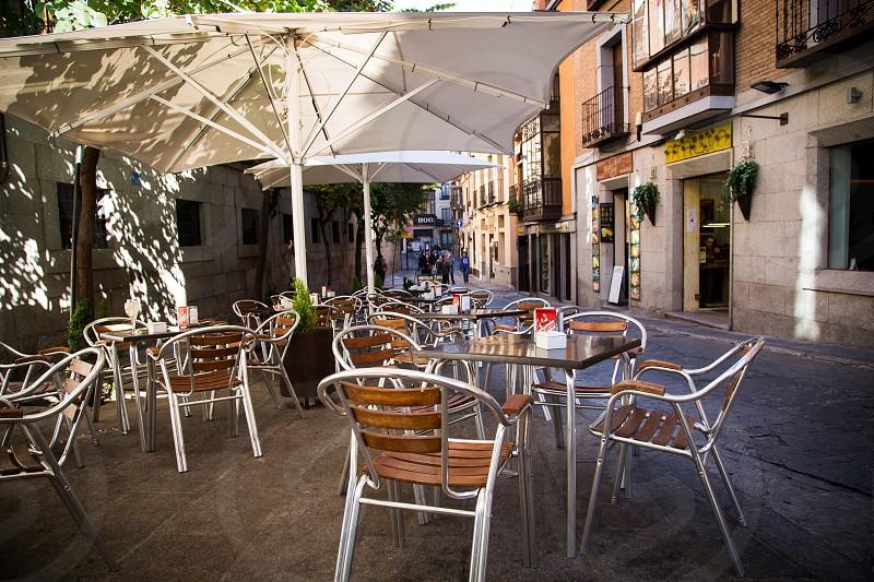 European outdoor cafe photo
