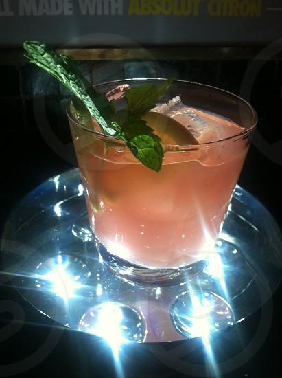 Vodka cocktail on illuminator photo